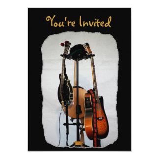ギターの楽器の招待状 カード