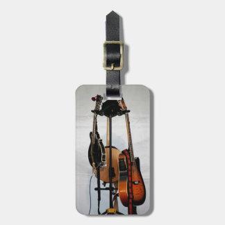 ギターの楽器 ラゲッジタグ