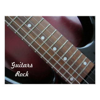 ギターの石のエレキギター ポスター