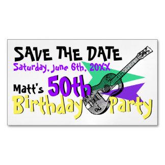 ギターの第50誕生会の保存磁気日付 マグネット名刺
