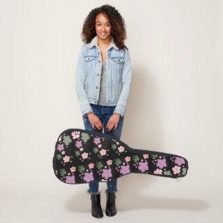 ギターの箱の花柄のカスタム ギターケース