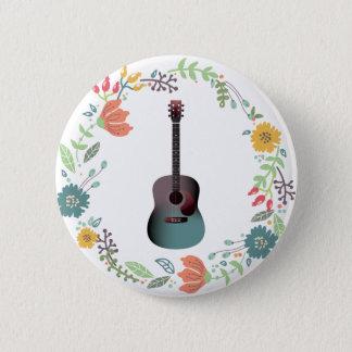 ギターの花のリング 缶バッジ