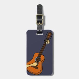 ギターの芸術のオリジナルを遊ぶこと ラゲッジタグ