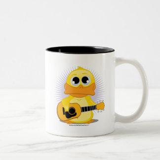 ギターの(音響の)アヒル ツートーンマグカップ