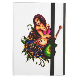 ギターを持つ女の子の上のPin iPad Airケース