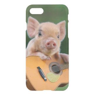 ギターを演奏しているおもしろいでかわいいブタ iPhone 8/7 ケース