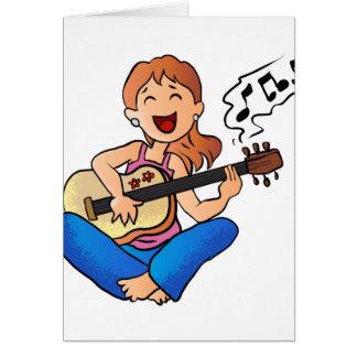 ギターを演奏している女の子 カード