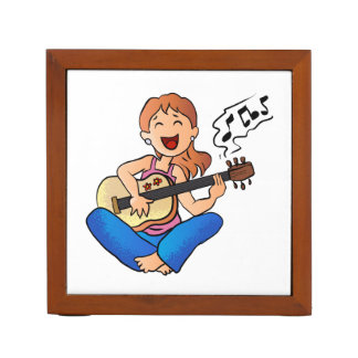 ギターを演奏している女の子 ペンスタンド