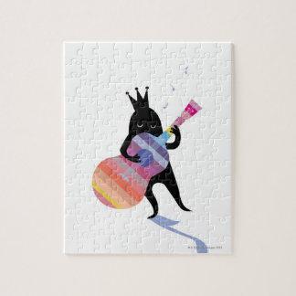 ギターを演奏している犬 ジグソーパズル