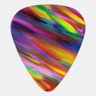 ギターピックのカラフルなデジタルに芸術のはねかけること ギターピック