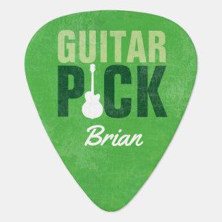 ギター一突き、緑名前を加えるため ギターピック