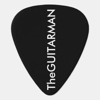 ギター人の黒 ギターピック