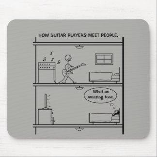 ギター奏者が人々にいかに会うか マウスパッド