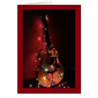 ギター奏者のクリスマスカード グリーティングカード