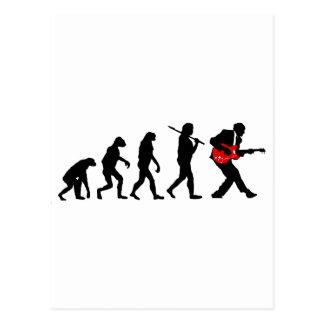 ギター奏者の進化 ポストカード