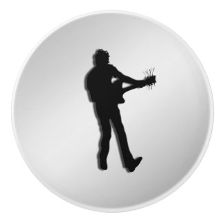 ギター奏者の銀 セラミックノブ