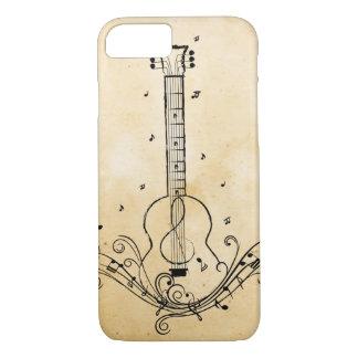 ギター音楽シートの渦巻のペーパー質 iPhone 8/7ケース