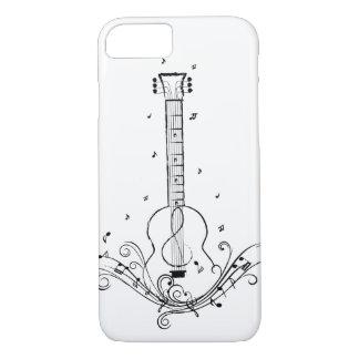 ギター音楽シートの渦巻 iPhone 8/7ケース