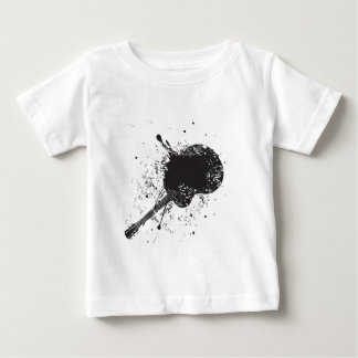 ギター6が付いている音楽ポスター ベビーTシャツ