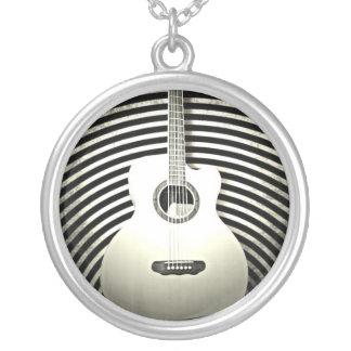 ギター シルバープレートネックレス