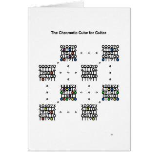 ギター-年賀状のための色彩立方体 グリーティングカード
