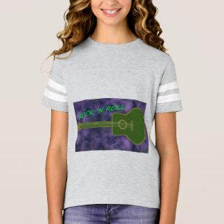 ギター-石のnロール tシャツ