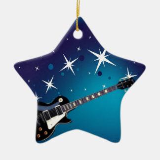 ギター-青 セラミックオーナメント