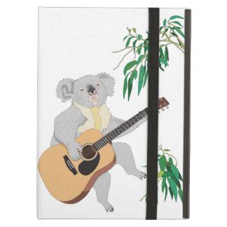 ギター- iPadの空気箱--を演奏しているコアラ iPad Airケース