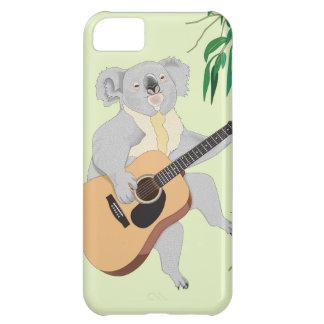 ギター- iPhone 5cケース--を演奏しているコアラ iPhone5Cケース