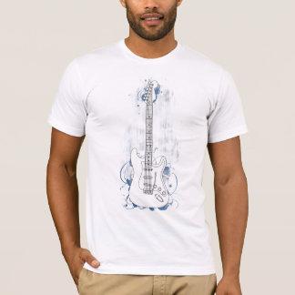 ギターFのきれいな背景の青いしぶき Tシャツ