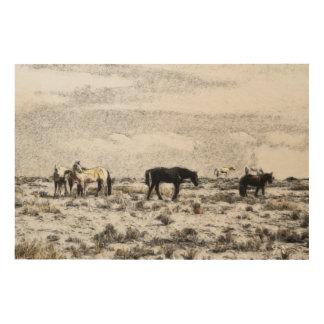 ギドのプロシアによる記念碑の谷の馬 ウッドウォールアート
