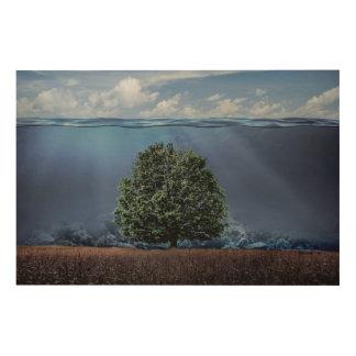 ギドのプロシア木キャンバスによって水中木 ウッドウォールアート