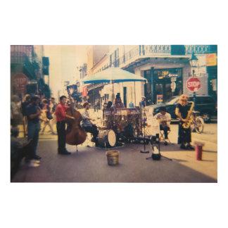 ギドのプロシア木キャンバスによるニュー・オーリンズの音楽 ウッドウォールアート