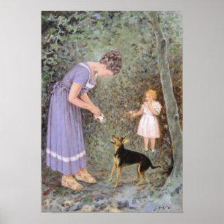 ギドMarzulliの現実主義著どん欲で小さい犬 ポスター