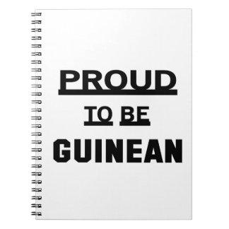 ギニアがあること誇りを持った ノートブック