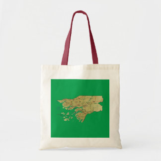ギニア-ビサウの地図のバッグ トートバッグ