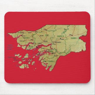 ギニア-ビサウの地図のマウスパッド マウスパッド