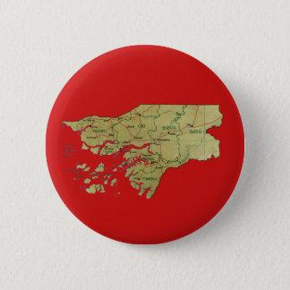 ギニア-ビサウの地図ボタン 5.7CM 丸型バッジ