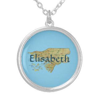 ギニア-ビサウの地図 + 一流のネックレス シルバープレートネックレス