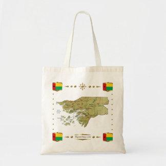 ギニア-ビサウの地図 + 旗のバッグ トートバッグ