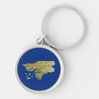 ギニア-ビサウの地図Keychain キーホルダー