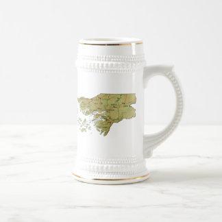 ギニア-ビサウの旗の~の地図のマグ ビールジョッキ