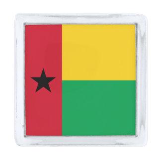 ギニア-ビサウの旗 シルバー ラペルピン
