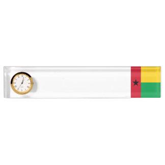 ギニア-ビサウの旗 デスクネームプレート