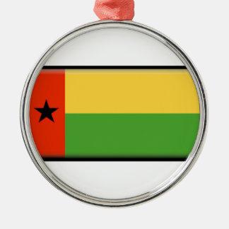 ギニア-ビサウの旗 メタルオーナメント