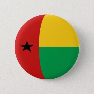 ギニア-ビサウFisheyeの旗ボタン 5.7cm 丸型バッジ