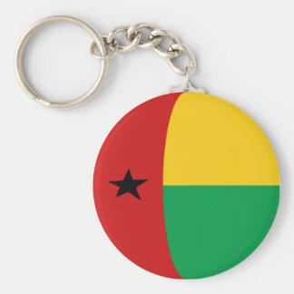 ギニア-ビサウFisheyeの旗Keychain キーホルダー