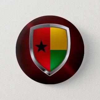 ギニア-ビサウMettalicの紋章 5.7cm 丸型バッジ