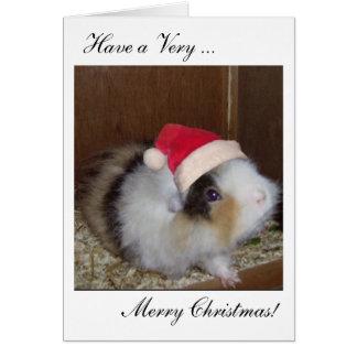 ギニーのメリークリスマスカードを持って下さい! カード