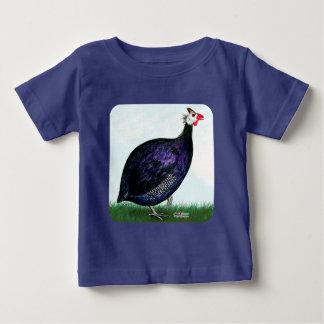 ギニーの王室のな紫色および空 ベビーTシャツ